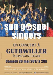Concert chaleureux de la chorale les Sun Gospel singers le 20 mai à Guebwiller, en l'église Saint-Léger.