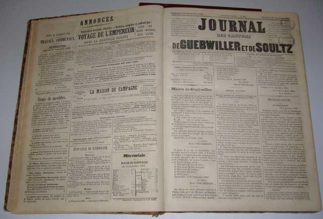 Journal des cantons de Guebwiller et Soultz 1860-1863