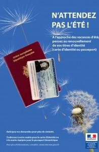 Pensez à anticiper votre demande de carte nationale d'identité pour plus de sérénité.