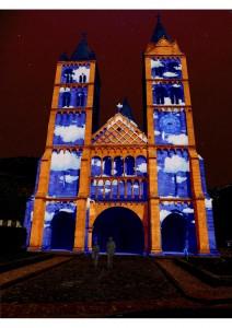 Illumination Eglise Saint Léger Noël Bleu 2015