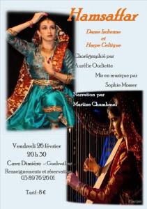 spectacle de danse indienne Hamsaffar