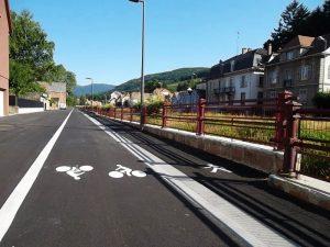 Guebwiller a aménagé sa trame verte en 2013 : une piste pour usager à pied, en rollers ou à vélo